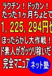 【儲】 ラクチン!ドッカン!たった30日ちょっとで1,225,294円也!ほったらかし大作戦!ド素人がガッツリ稼いだ完全マニュアル