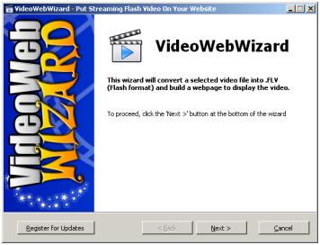 ネット起業家必見!ストリーミングヴィデオを簡単に設置することが出来る驚嘆のソフトウェアー!-VideoWebWizard!-10分以内にあなたのウェブサイトへストリーミングヴィデオを設置できます。