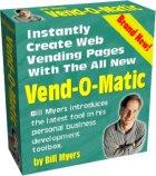 Vend-O-Matic! 自動的に儲かるキラーミニサイトを創る!&第3のオーダーボタン!作成ツール