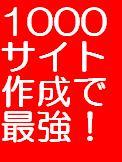 1000サイト作成による最強アフィリエイトの極意!!あなた独自の基本100サイト付、これですぐ1000サイト完成。