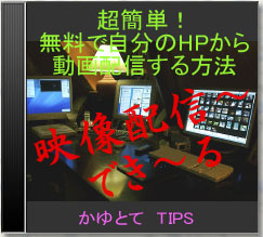 超簡単!無料で自分のHPから動画配信するメソッド