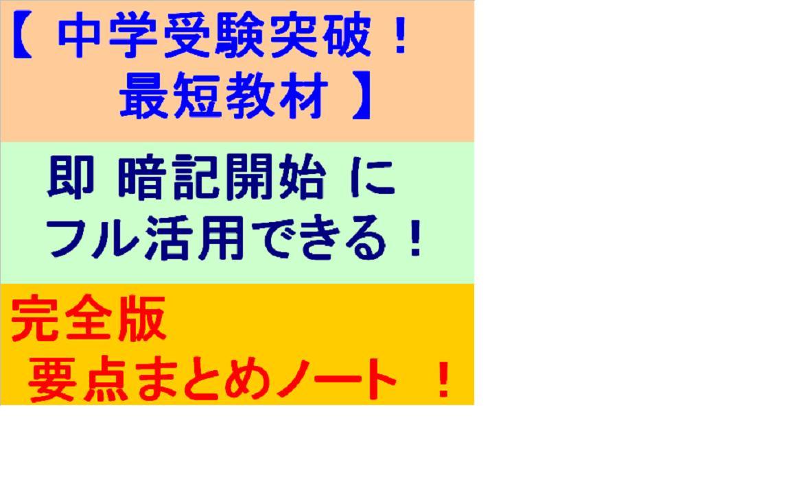 【中学受験突破!最短教材】