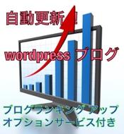 自動更新で楽々 wordpressブログ+ブログランキングアップ1日間付き