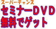 【無料セミナーDVD】セミナーを活用して圧倒的に稼ぐセミナーDVD 送料+手数料決済