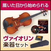 【楽器セット/Vn】初心者向けヴァイオリンレッスンDVD1弾~3弾ヴァイオリンセット(ハイクオリティ)